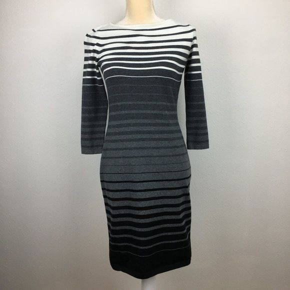 Lauren Ralph Lauren S Sweater Dress 3/4 Sleeve